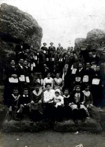 Masonas andaluzas visitan las ruinas de Itálica en 1912.