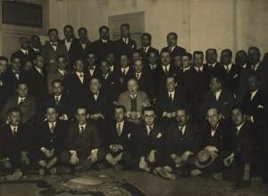 Asamblea Anual del Grande Oriente Español de Barcelona en 1933, con el gran maestre Martínez Barrio.
