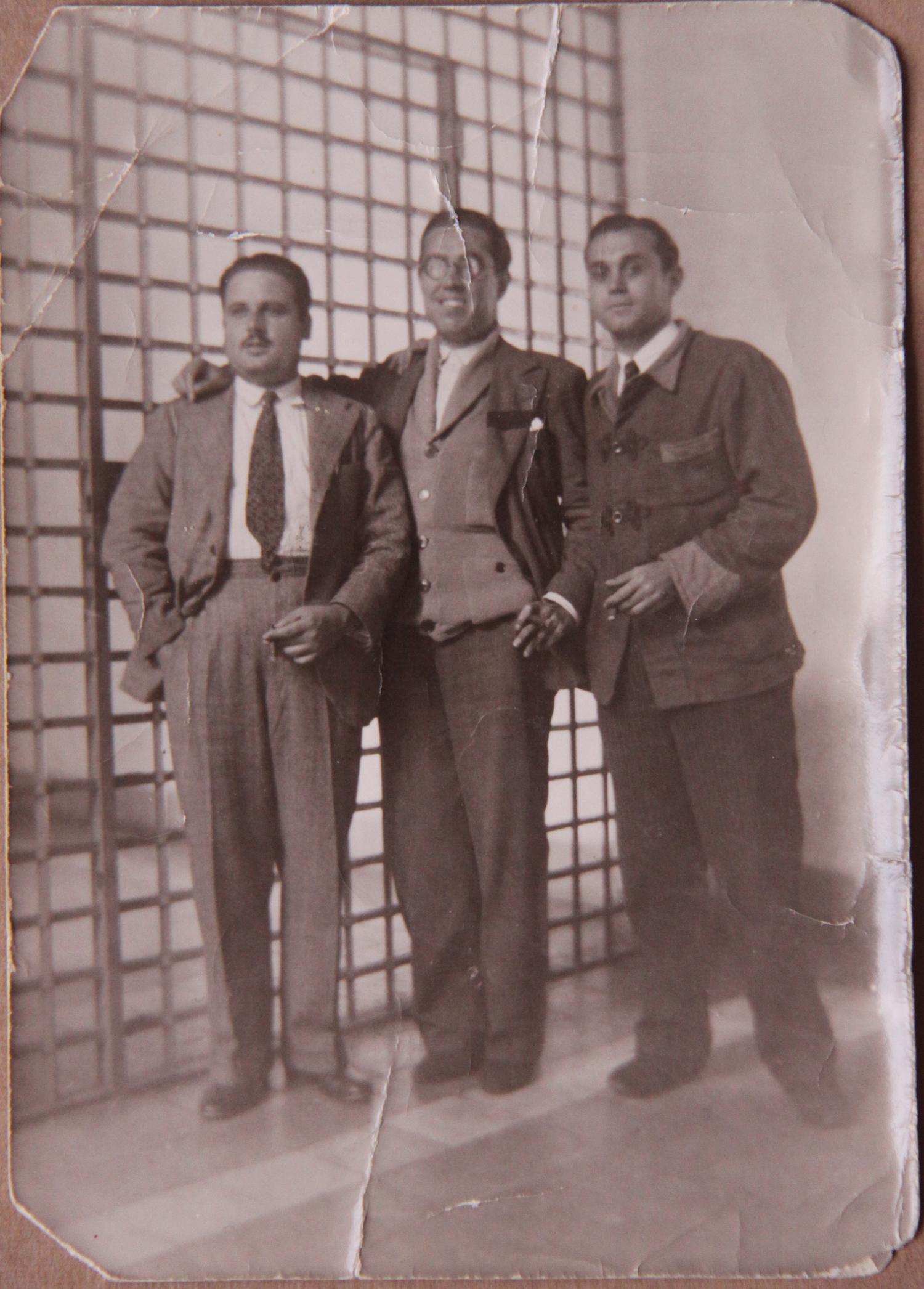 José Ponce, en el centro encarcelado en al prisión de Huelva, tras la revolución de octubre de 1934.