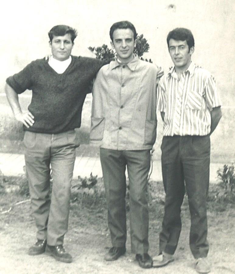 En la cárcel de Segovia (1969), Del Águila (derecha), junto a Saborido y Redondo.