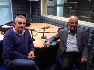 Isaac Revah con Rafael Guerrero en la radio.