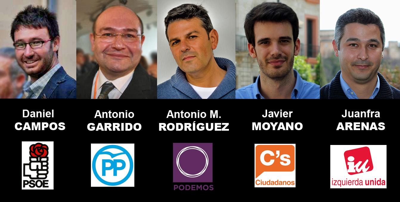 Participantes en el primer debate político de los principales partidos andaluces sobre memoria histórica.