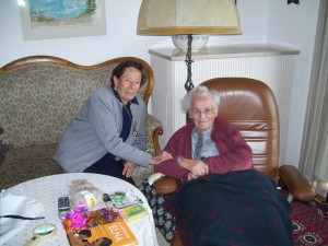 María García Torrecillas y Elizabeth Eidenbenz, en su último encuentro en Suiza hace 7 años.