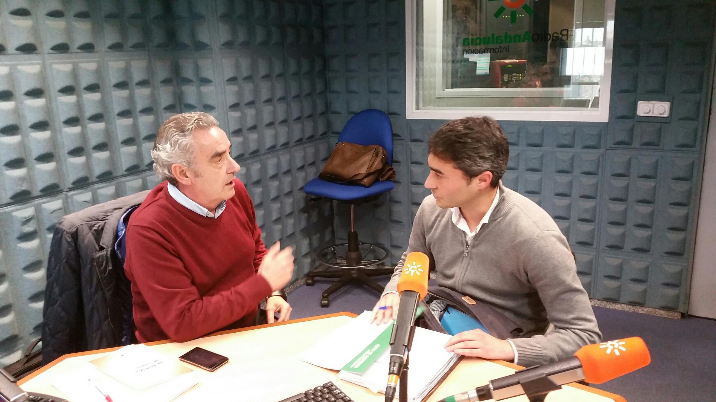 Entrevista en Canal Sur Radio.