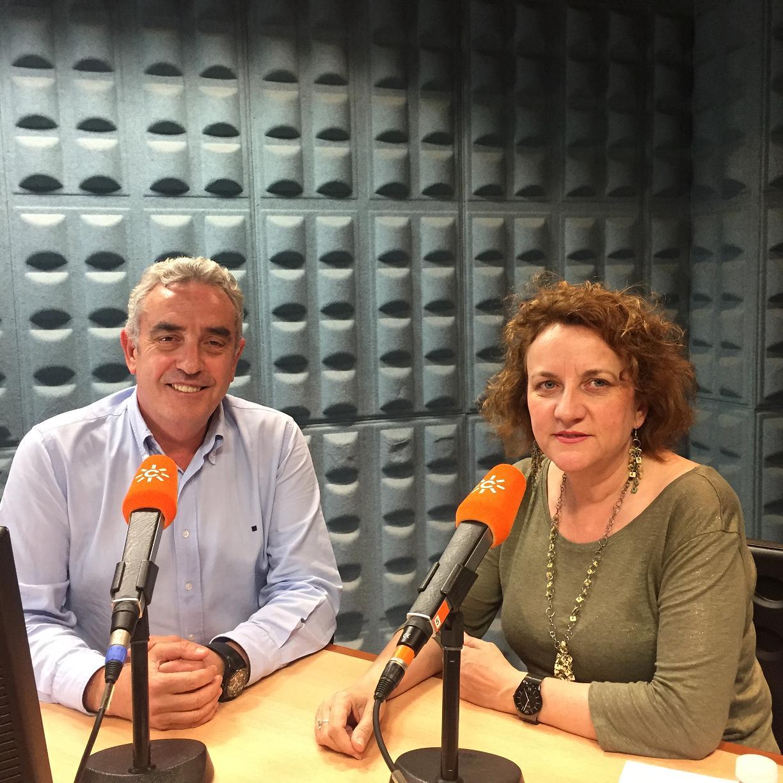 Felicidad Mendoza Ponce en Canal Sur Radio con Rafael Guerrero