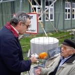 La Memoria realizó varias entrevistas con deportados andaluces en el campo nazi de Mauthausen en mayo de 2008. En la foto, el deportado jiennense Francisco Ortiz.