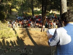 Diego Valderas preside el acto de señalización de lugar de la memoria de las fosas de Víznar y Alfacar.