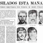 Los fusilamientos en un periódico de la época
