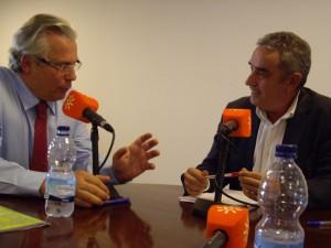 Baltasar Garzón y Rafael Guerrero, en Sevilla.