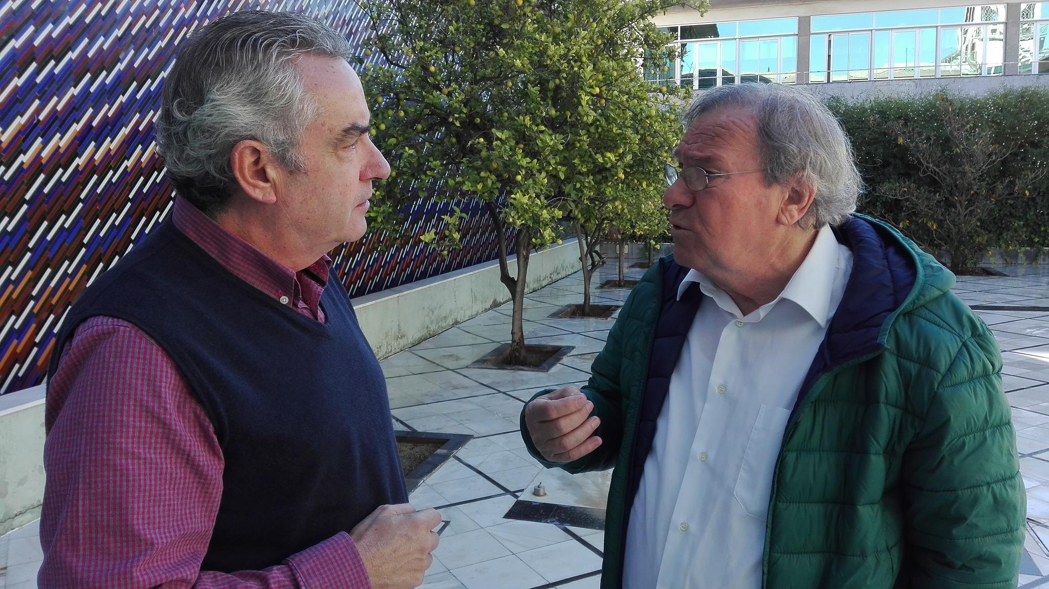 Manuel Gerena con Rafael Guerrero