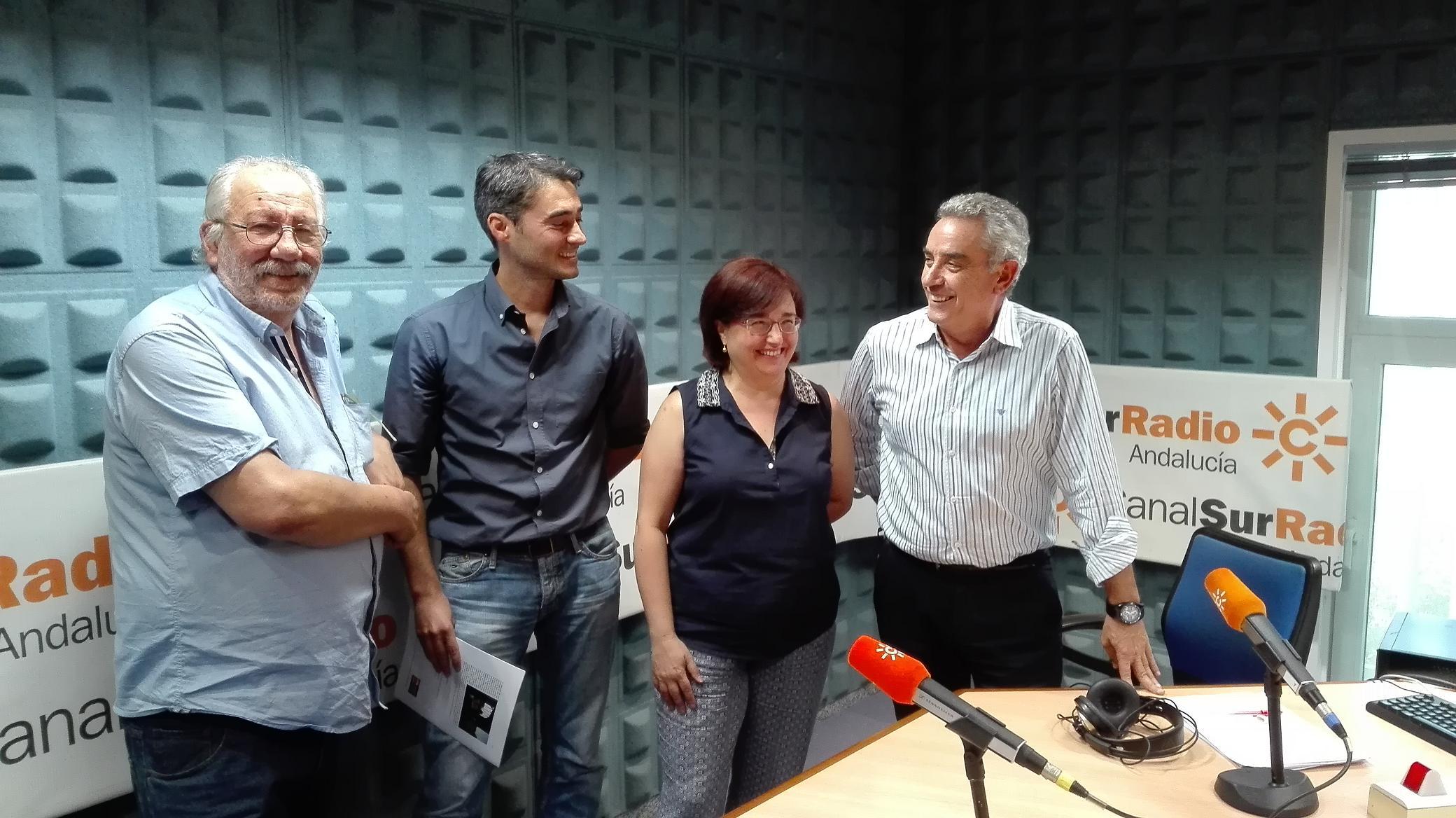 Cecilio Gordillo, Javier Giráldez, Amparo Alonso y Rafael Guerrero
