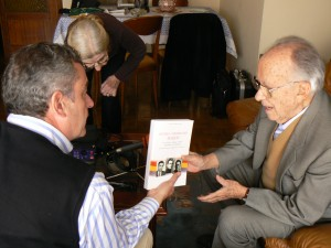 Entrevista Santiago Carrillo programa 'La Memoria', abril 2007. Foto Kika Castejón.