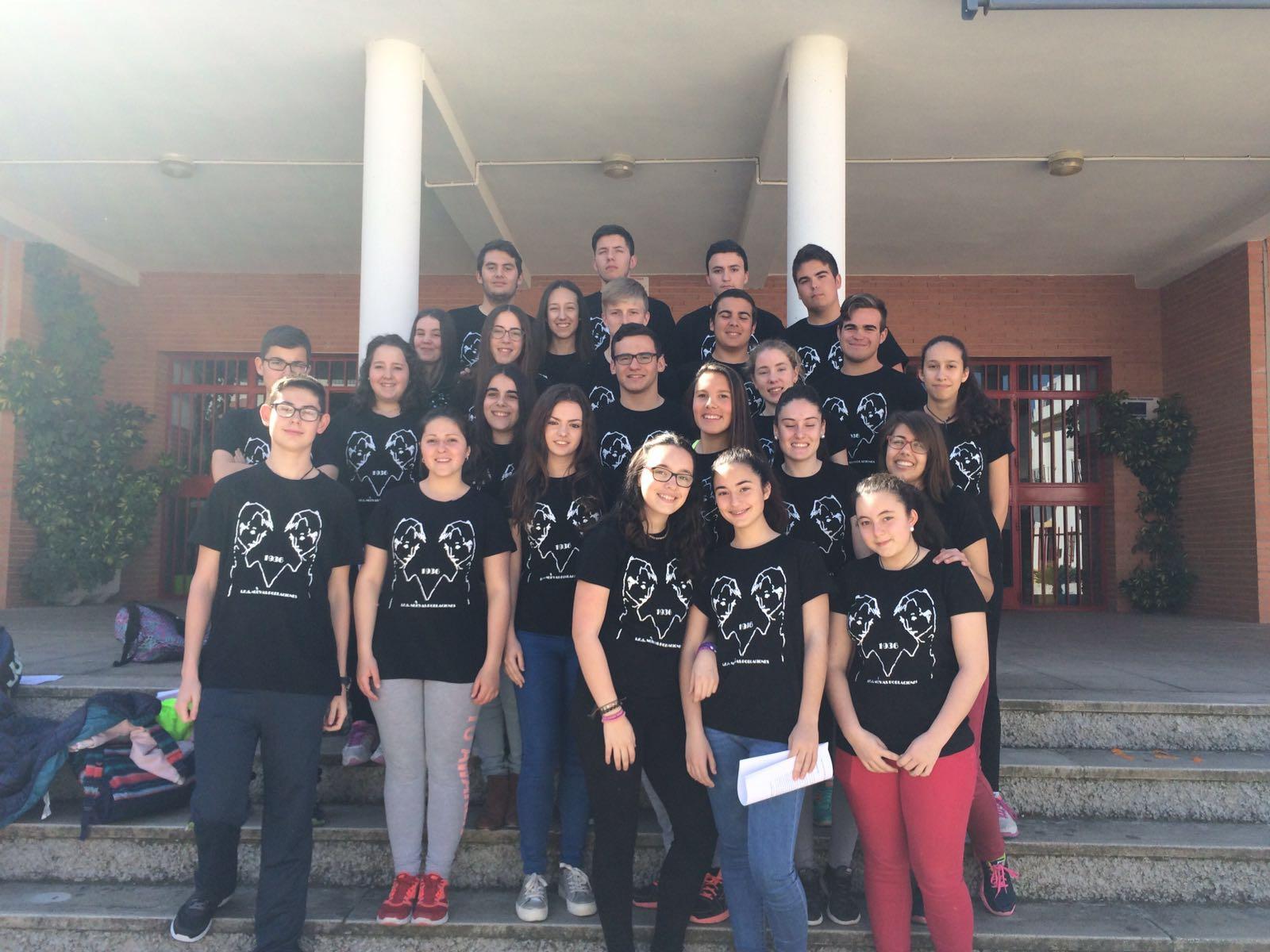 Alumnos del Instituto de La Carlota.