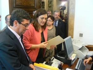 José Luis Centella y Soraya Rodríguez registran una iniciativa parlamentaria. (EP)