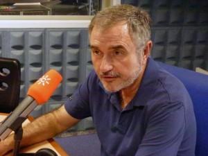 Luis Naranjo, director general de Memoria Democrática, en el estudio de Canal Sur Radio.