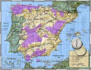 Mapa del maquis en España.