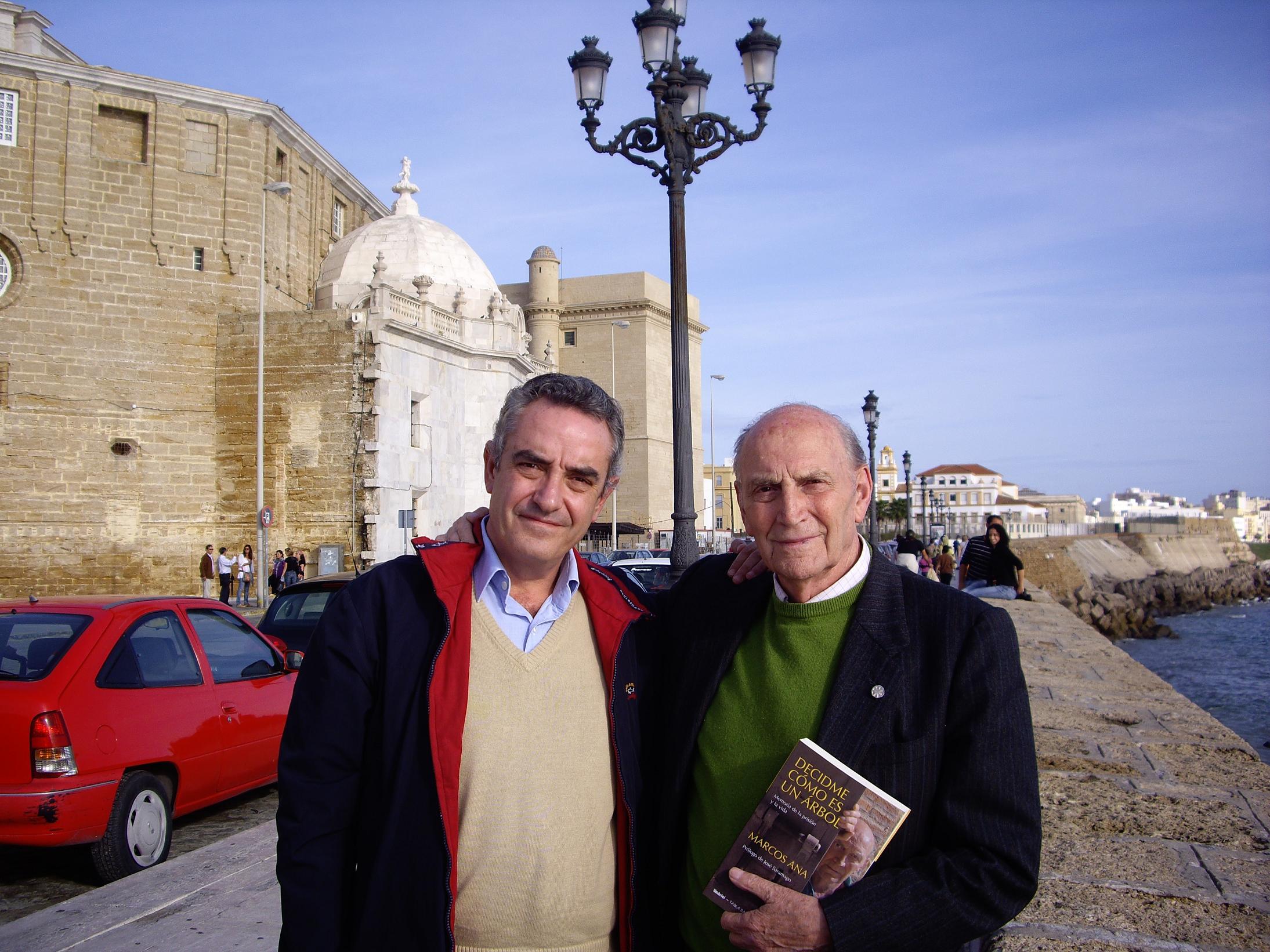 Marcos Ana con Rafael Guerrero en Cádiz