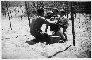 Reencuentro familiar en el campo francés de Argelés.