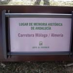 Placa parque de la Memoria.
