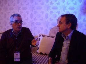 Zapatero y Guerrero en el Forum de Marrakech.