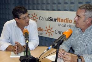 Diego Valderas y Rafrael Guerrero en Canal Sur Radio.